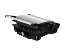 MPM MGR-09M 2000 W, tapadásmentes fekete-inox elektromos grill