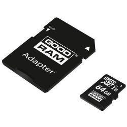GOODRAM M1AA-0640R12 64GB microSD CL10 UHS-I memóriakártya + adapter