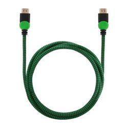 Elmak Savio GCL-03 HDMI 2.0 Xbox ethernet 1.8 m zöld-fekete gamer kábel