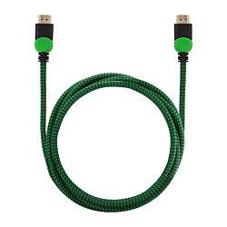 Elmak Savio GCL-06 HDMI 2.0 Xbox ethernet 3 m zöld-fekete gamer kábel