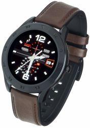 "Garett GT22S IPS LCD 1.3"" sötétbarna-fekete bőr okosóra"