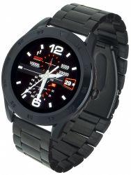 """Garett GT22S IPS LCD 1.3"""" fekete acél okosóra"""
