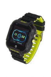 """Garett Kids 4G LCD 1.4"""" GPS fekete-lime gumi okosóra"""