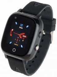"""Garett Kids Sun LCD 1.3"""" GPS, 4G fekete gumi okosóra"""