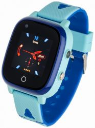 "Garett Kids Sun LCD 1.3"" GPS, 4G kék gumi okosóra"