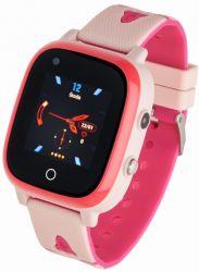 """Garett Kids Sun LCD 1.3"""" GPS, 4G rózsaszín gumi okosóra"""