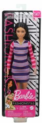 Mattel Barbie (FBR37/GYB02) Fashionistas csíkos ruhájú baba