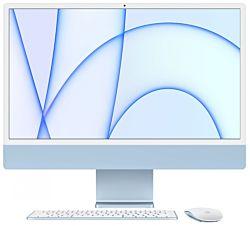 """Apple iMac MGPK3ZE/A Retina 4.5K, 24"""", Apple M1, 8GB memória, 256GB SSD kék asztali számítógép"""