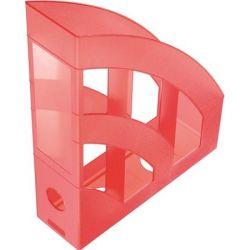 """HELIT """"Economy"""" Iratpapucs, műanyag, 75 mm, áttetsző piros"""