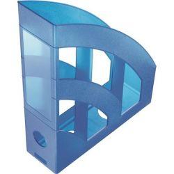 """HELIT """"Economy"""",  Iratpapucs, műanyag, 75 mm, áttetsző kék"""
