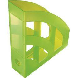 """HELIT """"Economy"""", Iratpapucs, műanyag, 75 mm,  áttetsző zöld"""