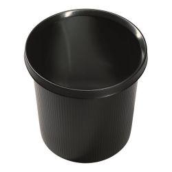 """Helit """"Linear"""" 18L műanyag fekete papírkosár"""