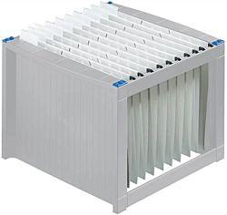 HELIT műanyag világosszürke-kék függőmappa tároló