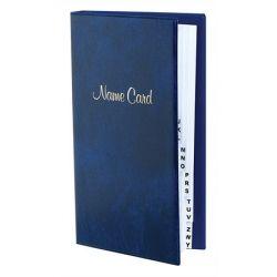 VICTORIA 128 db-os gyűrűs márvány kék névjegytartó