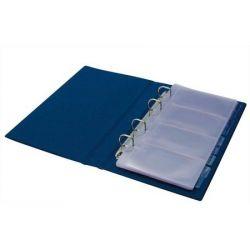 PANTAPLAST 200 db-os gyűrűs kék névjegytartó