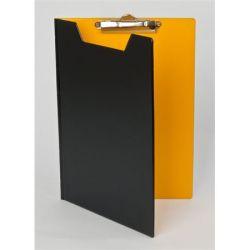 PANTAPLAST A4 fekete-citromsárga fedeles felírótábla