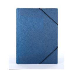 "PANTA PLAST ""Simple"" 15 mm A4 metál kék gumis mappa"