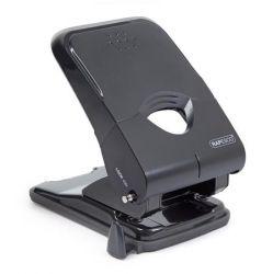 Rapesco X5 50 lapos kétlyukú műanyag fekete lyukasztó