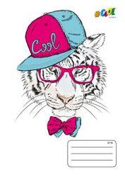 COOL by Victoria Funky animals A5 kockás 32 lapos fűzött füzet
