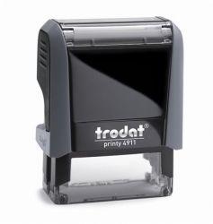 """TRODAT """"Printy 4911"""" fekete ház bélyegző kék párnával"""