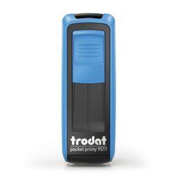 """TRODAT """"Pocket Printy 9511"""" kék házú bélyegző fekete párnával"""