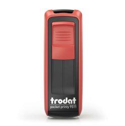 """TRODAT """"Pocket Printy 9511"""" piros házú bélyegző fekete párnával"""