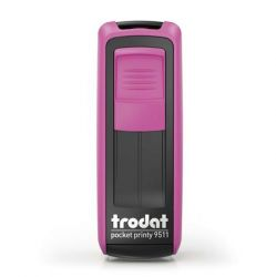 "TRODAT ""Pocket Printy 9511"" pink házú bélyegző fekete párnával"