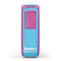"""TRODAT """"Pocket Printy 9511"""" pink-türkiz házú bélyegző fekete párnával"""