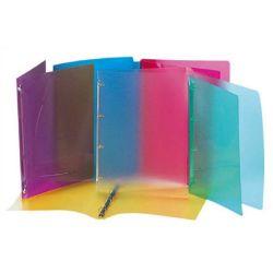"""VIQUEL """"Propyglass"""" 4 gyűrűs 20 mm A4 vegyes színű gyűrűs dosszié"""