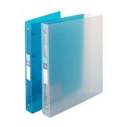 """VIQUEL """"Propyglass"""" 4 gyűrűs 35 mm A4 cserélhető címkés kék gyűrűs dosszié"""