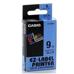 CASIO 9 mm x 8 m kék-fekete feliratozógép szalag