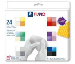 """FIMO """"Effect Colours""""  égethető 24 különböző színű gyurma készlet (24x25 g)"""