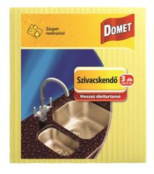 Domet (3db/csomag) sárga mosogatókendő