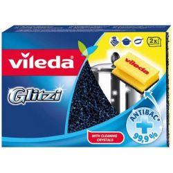 """VILEDA """"Glitzi"""" (2darab/csomag) sárga antibakteriális súrolószivacs"""
