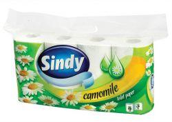 Sindy 3 rétegű kamilla toalettpapír (8 tekercs)