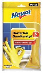 Hewa KHT686 S méret, 1 pár sárga háztartási gumikesztyű