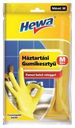 Hewa KHT687 M méret, 1 pár sárga háztartási gumikesztyű