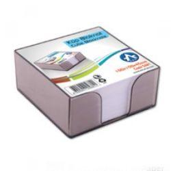 BLUERING 10x10x4,5 cm füst műanyag kockatömb tartó
