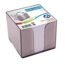 BLUERING 10x10x9 cm füst műanyag kockatömb tartó