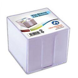 BLUERING 10x10x9 cm víztiszta műanyag kockatömb tartó