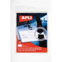 APLI 90x56 mm nyakba akasztható névkitűző biztonsági csattal