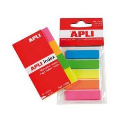 APLI 12x45 mm műanyag 5 színű jelölőcímke (5x25 lap)
