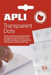 APLI Transparent Dots eltávolítható átlátszó ragasztókorong (64 db)