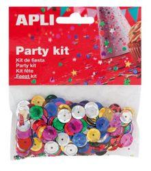 APLI 11 mm metál vegyes színek lyukasztott kör konfetti