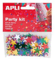 APLI 15 mm metál  vegyes színek csillag konfetti