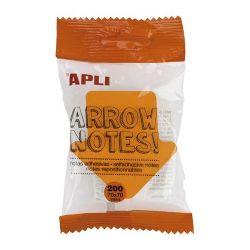 """APLI """"Arrow notes"""" 200 lapos nyíl formájú öntapadó jegyzettömb"""