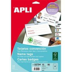 APLI 90x55 mm 200 g mikroperforált névjegykártya