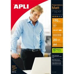 "APLI A4 170 g ""Presentations kétoldalas tintasugaras matt fotópapír (20 lap)"