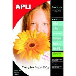 """APLI 10x15 cm 180 g """"Everyday"""" tintasugaras fényes fotópapír (100 lap)"""
