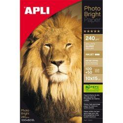 """APLI 10x15 cm 240 g """"Photo Bright""""  tintasugaras fényes fotópapír (150 lap)"""